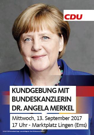 Die Kanzlerin kommt nach Lingen – Öffentlicher Termin am 13. September