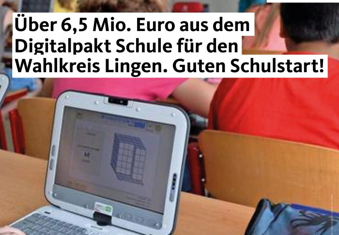 Fühner: Über 6,5 Mio. Euro aus dem Digitalpakt – Schulträger können ab sofort Mittel beantragen